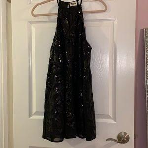 Show Me Your Mumu Gomez Dress in Black Sequin